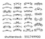 filigree swirly ornaments.... | Shutterstock .eps vector #551749900