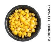cooked corn kernels heap in...   Shutterstock . vector #551752678