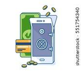 illustration of mobile money... | Shutterstock . vector #551754340