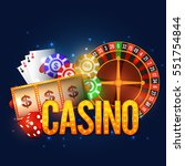 casino background with roulette ... | Shutterstock .eps vector #551754844