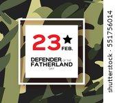 happy defender of the... | Shutterstock .eps vector #551756014