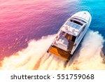 luxury motor boat  rio yachts... | Shutterstock . vector #551759068