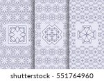 set of seamless patterns in... | Shutterstock .eps vector #551764960