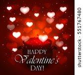 valentines day background  love ...   Shutterstock .eps vector #551767480