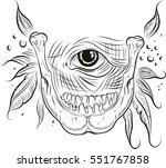 eyes and raw | Shutterstock .eps vector #551767858