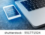 cloud backup storage from... | Shutterstock . vector #551771524