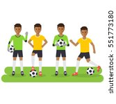 black soccer sport athletes ... | Shutterstock .eps vector #551773180