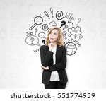 portrait of a red haired... | Shutterstock . vector #551774959