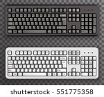 keyboard realistic black white... | Shutterstock .eps vector #551775358