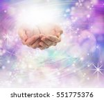 divine light healing energy  ... | Shutterstock . vector #551775376