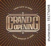 grand opening vector... | Shutterstock .eps vector #551776048