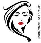 illustration of women long hair ...   Shutterstock .eps vector #551776984