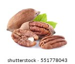 pecan with leaves | Shutterstock . vector #551778043