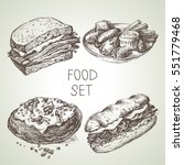 hand drawn food sketch set of... | Shutterstock .eps vector #551779468