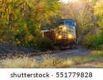 railroad freight train rounding ... | Shutterstock . vector #551779828