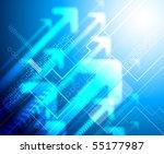 blue abstract business... | Shutterstock . vector #55177987