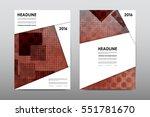 brochure layout template flyer... | Shutterstock .eps vector #551781670