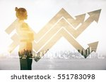 attractive female on abstract... | Shutterstock . vector #551783098