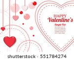 valentines day vector beautiful ... | Shutterstock .eps vector #551784274