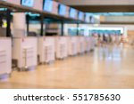 blurred of counter check in at... | Shutterstock . vector #551785630
