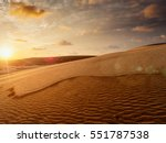 White Sand Dunes On Sunrise ...