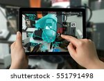 industrial 4.0   augmented... | Shutterstock . vector #551791498