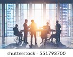 meeting room. group of business ... | Shutterstock . vector #551793700