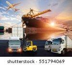 logistics and transportation of ... | Shutterstock . vector #551794069