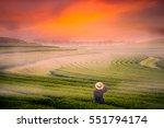 woman is traveling into tea... | Shutterstock . vector #551794174