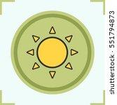 sun color icon. sunshine.... | Shutterstock .eps vector #551794873