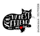 typographic poster with cat... | Shutterstock .eps vector #551795308