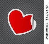 red heart shape isolated on...   Shutterstock .eps vector #551795764