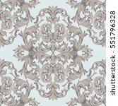 vintage baroque damask floral... | Shutterstock .eps vector #551796328