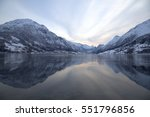 Norway landscape. Fjord.  - stock photo