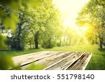 wooden desk of free space and... | Shutterstock . vector #551798140