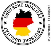 round patch german quality with ... | Shutterstock .eps vector #551805064