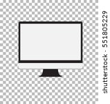 computer monitor isolated on... | Shutterstock .eps vector #551805229