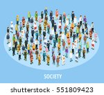 professional society isometric... | Shutterstock .eps vector #551809423