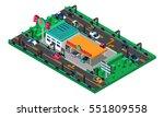 futuristic isometric concept... | Shutterstock .eps vector #551809558