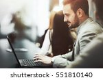 programmer working and... | Shutterstock . vector #551810140