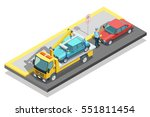 colored isometric parking...   Shutterstock .eps vector #551811454