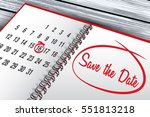 save the date mark on calendar... | Shutterstock .eps vector #551813218