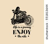 life is a journey enjoy the... | Shutterstock .eps vector #551813644