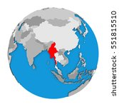 map of myanmar highlighted in... | Shutterstock . vector #551815510