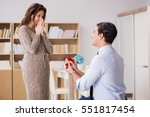 romantic concept with man... | Shutterstock . vector #551817454