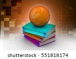 3d illustration of education...   Shutterstock . vector #551818174