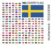 world country flags icon vector ... | Shutterstock .eps vector #551818588