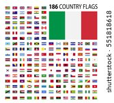 world country flags icon vector ... | Shutterstock .eps vector #551818618