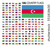 world country flags icon vector ... | Shutterstock .eps vector #551818630