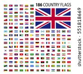 world country flags icon vector ... | Shutterstock .eps vector #551818669